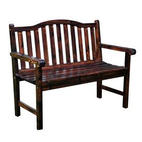 Shine Company 22-in W x 44.75-in L Burnt Brown Cedar Patio Bench