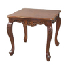 International Caravan Carved Wood Stain Square End Table