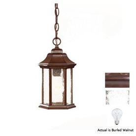 Acclaim Lighting Madison 12-in Burled Walnut Outdoor Pendant Light