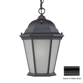 Acclaim Lighting Richmond 14-in Matte Black Solar Outdoor Pendant Light ENERGY STAR
