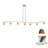 Cal Lighting Serpentine 7-Light 80-in Brushed Steel Glass Pendant Linear Track Lighting Kit