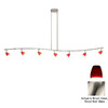 Cal Lighting 7-Light Brushed Steel Glass Pendant Linear Track Lighting Kit