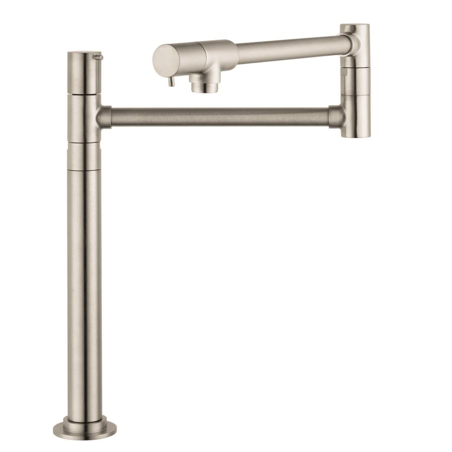 Shop Hansgrohe Hg Kitchen Steel Optik Pot Filler Kitchen Faucet At