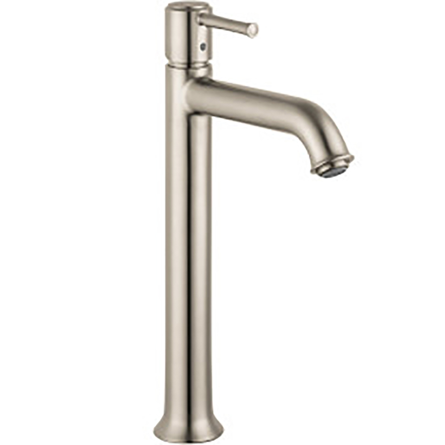 brushed nickel 1 handle single hole watersense bathroom sink faucet