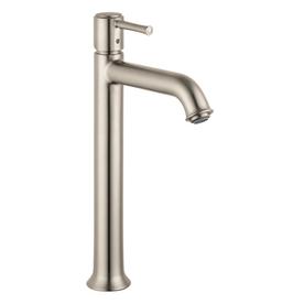 Hansgrohe Talis C Brushed Nickel 1-Handle Single Hole WaterSense Bathroom Faucet (Drain Included)