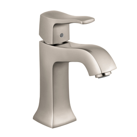 Hansgrohe Metris C Brushed Nickel 1-Handle Single Hole WaterSense Bathroom Faucet (Drain Included)