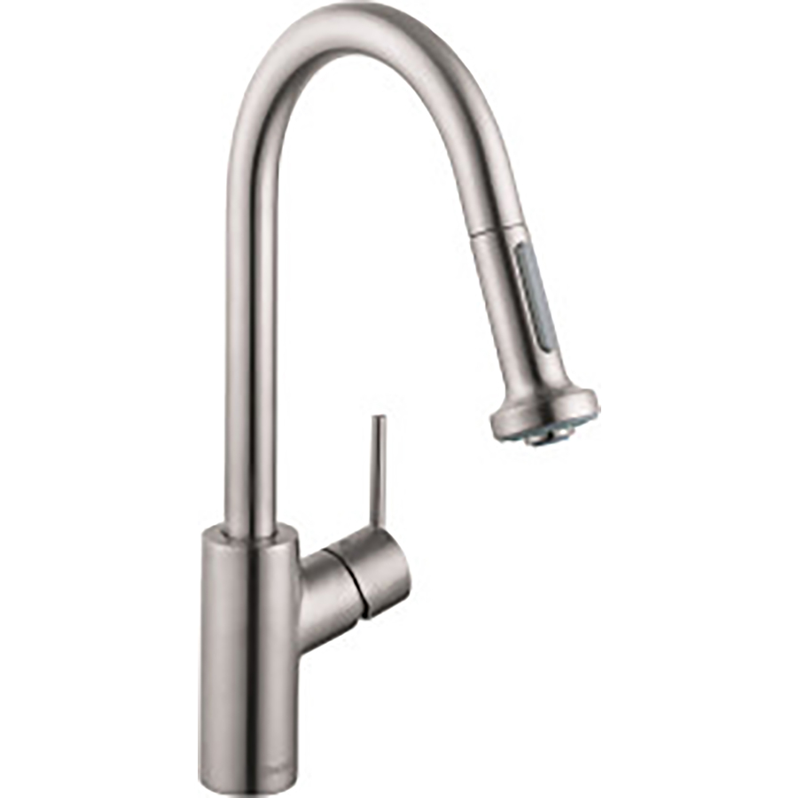 shop hansgrohe hg kitchen steel optik pull down kitchen 4 best hansgrohe kitchen faucets 2017 with reviews