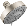 Hansgrohe HG 4-in 2.0-GPM (7.6-LPM) Brushed Nickel 3-Spray WaterSense Rain Showerhead