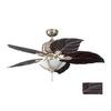 Kendal Lighting 52-in Copacaba Havana Brass Ceiling Fan