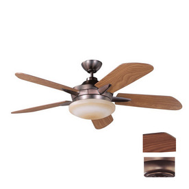 Kendal Lighting 52-in Sirus Oil-Brushed Bronze Ceiling Fan with Light Kit and Remote