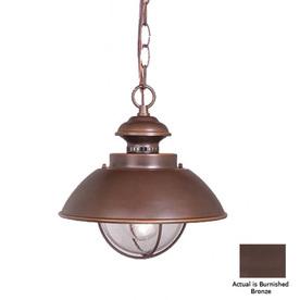 Cascadia Lighting Nautical 10-3/4-in Burnished Bronze Outdoor Pendant Light
