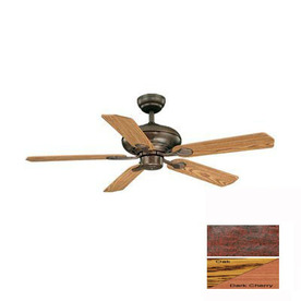Cascadia Lighting 52-in Silver Medallion Royal Bronze Ceiling Fan
