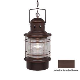 Shop Cascadia Lighting Nautical 22 In Burnished Bronze Outdoor Pendant Light