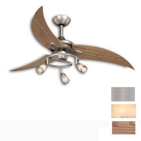 Cascadia Lighting 48-in Picard Brushed Nickel Ceiling Fan with Light Kit