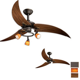 Cascadia Lighting 48-in Picard Oil-Rubbed Bronze Ceiling Fan with Light Kit