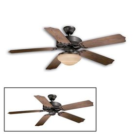 Cascadia Lighting 52-in Medallion Noble Bronze Ceiling Fan ENERGY STAR