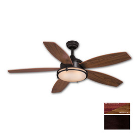 Cascadia Lighting 52-in Taliesin Oil-Rubbed Bronze Ceiling Fan with Light Kit and Remote