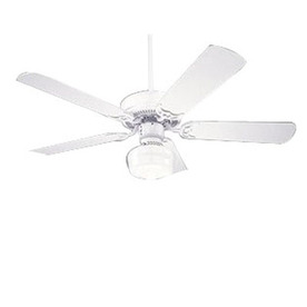 Nicor Lighting 42-in Contractor White Ceiling Fan with Light Kit