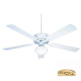 Nicor Lighting 52-in Contractor Polished Brass Ceiling Fan