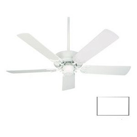 Nicor Lighting 52-in Contractor White Outdoor Ceiling Fan