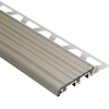 Schluter Systems TREP-B 9/16-in /ALU Base/ 2-1/8-in PVC Grey