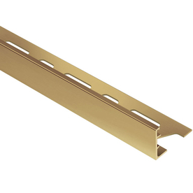 Schluter Systems 0.625-in W x 98.5-in L Brass Commercial/Residential Tile Edge Trim