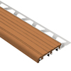 Schluter Systems 1-in Nut Brown PVC Trim