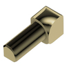 Schluter Systems In Corner Polished Brass Anodized Aluminum Trim