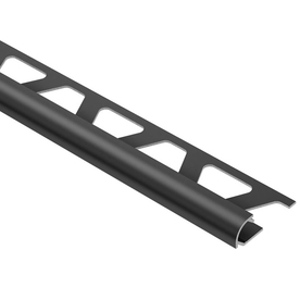 Schluter Systems 1/2-in Graphite Anodized Aluminum Bullnose Trim