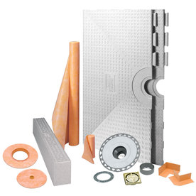 Schluter Systems Brushed Brass Styrene Shower Kit