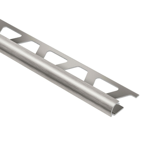Schluter Systems 3/8-in Bright Nickel Anodized Aluminum Bullnose Trim