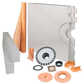Schluter Systems Brushed Copper Bronze Styrene Shower Kit