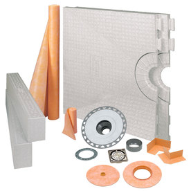 Schluter Systems Schluter Kerdi Brushed Nickel Styrene Shower Kit