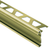 Schluter Systems 5/16-in Brushed Brass Anodized Aluminum Trim