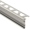 Schluter Systems 1/2-in Satin Nickel Anodized Aluminum Double Rail Edging Trim