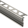Schluter Systems 3/8-in Brushed Nickel Anodized Aluminum Double Rail Edging Trim