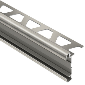 Schluter Systems 1/2-in Brushed Nickel Anodized Aluminum Double Rail Edging Trim