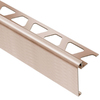 Schluter Systems 3/8-in Brushed Copper Aluminum Step Trim