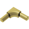 Schluter Systems 1/2-in Brushed Brass Stainless Steel Aluminum Sink Corner Trim