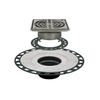 Schluter Systems 6-in ABS Flange with Grate Stainless Steel Drain Kit