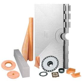 Schluter Systems KERDI-SHOWER-KIT 48-in x 48-in Oil BRNZE - ABS