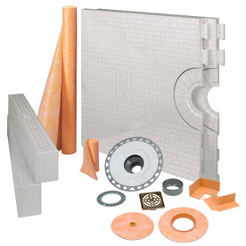 Schluter Systems KERDI-SHOWER-KIT 32-in x 60-in Oil BRNZE - PVC