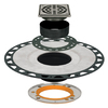 Schluter Systems KERDI-DRAIN RES Adaptor Kit ABS 4-in Grate SS
