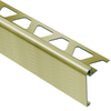 Schluter Systems 39-1/2-in Brushed Brass Stainless Steel Aluminum Step Trim