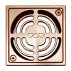 Schluter Systems 4-in Square Brushed Copper Anodized Aluminum Grate Kit