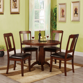 of america englewood antique dark oak round dining table at