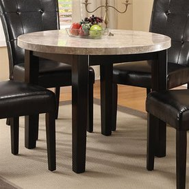 Furniture of America Marion Espresso Round Dining Table