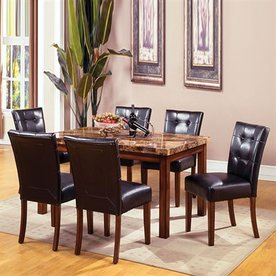 Furniture of America Little Rock Dark Oak Rectangular Dining Table
