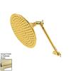 Elements of Design Victorian 7.75-in 2.5-GPM (9.5-LPM) Polished Brass Rain Showerhead