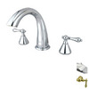 Elements of Design Chrome 2-Handle Adjustable Deck Mount Tub Faucet